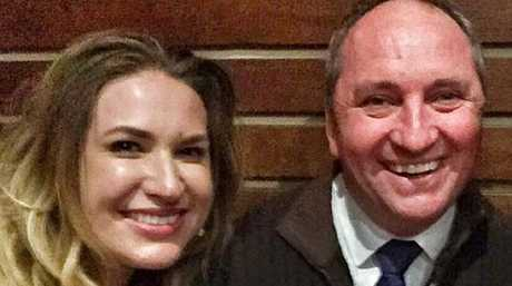 Deputy Prime Minister Barnaby Joyce with his former staffer and now partner Vikki Campion.
