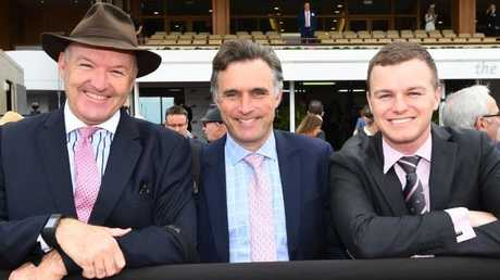 Lindsay Park dynasty: Co-trainers David Hayes, Tom Dabernig and Ben Hayes. Picture: Getty Images