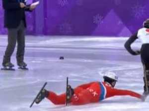 North Korean skater trips rival