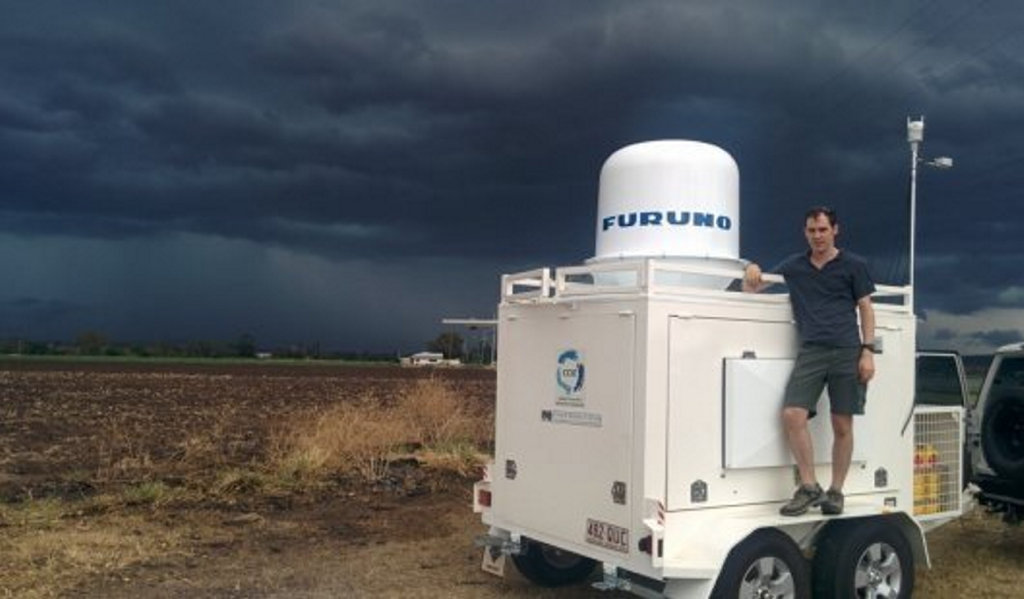 Dr Joshua Soderholm ... undertook a two-year field campaign to help develop his thunderstorm map.