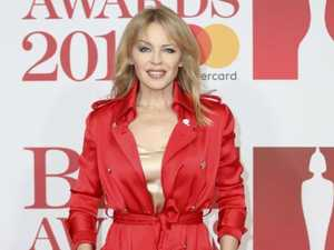 Kylie Minogue dazzles on red carpet of Brit Awards