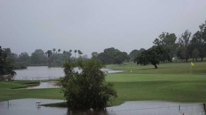 The view of the Maryborough Golf Course from Alice St with Ululah Lagoon in the background.