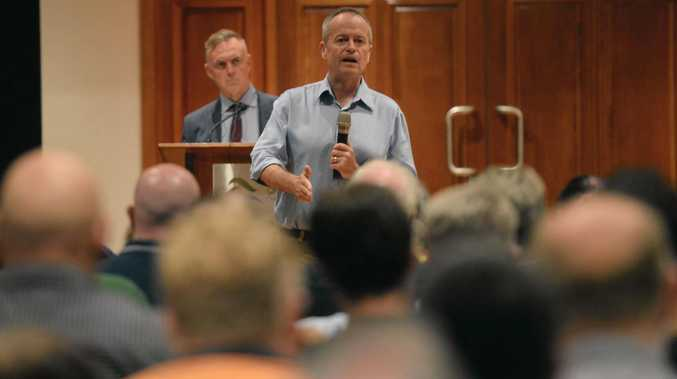 HOLDING COURT: Opposition Leader Bill Shorten hosted a rousing town meeting where locals brought plenty of issues to his attention.