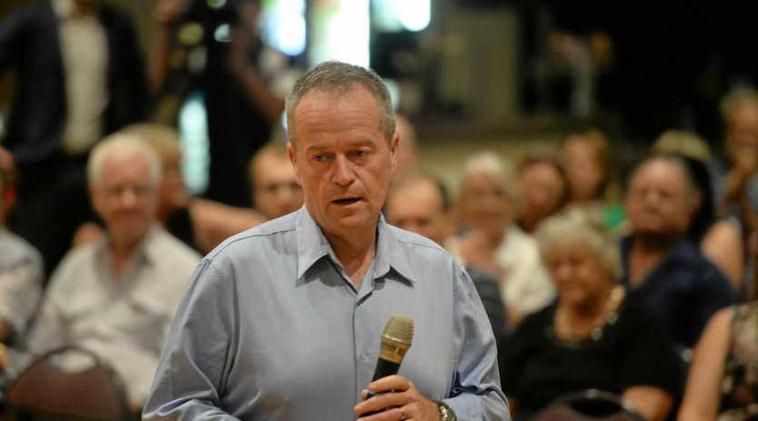 LISTENING TOUR: Opposition leader Bill Shorten addresses resident concerns at last week's town hall meeting.