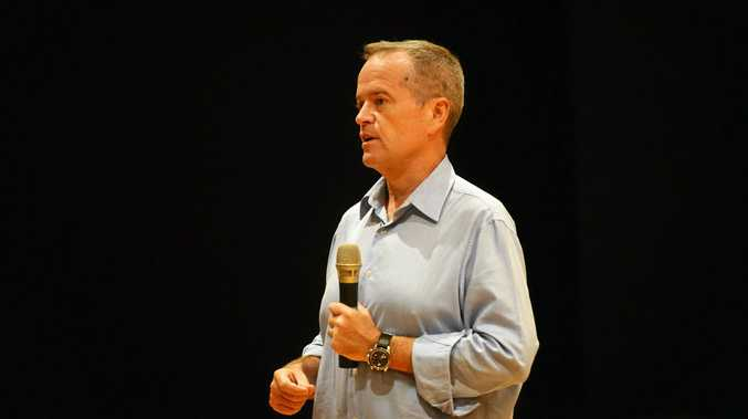 LISTENING TOUR: Opposition Leader Bill Shorten at last week's town hall meeting.