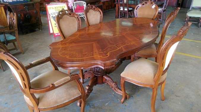 An antique dining table sold through the Lismore Tender Centre