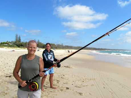 GONE FISHIN':Stephen and Robyn Duffield getting ready for the revamped Greenback Fishing competition at Cabarita beach in June.
