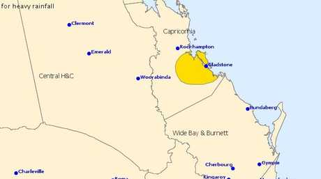 The Bureau of Meteorology has issued a severe thunderstorm warning for the Gladstone Region.