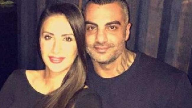Love story: Carolina Gonzalez with the love of her life, slain former bikie boss Mahmoud 'Mick' Hawi. Picture: Facebook