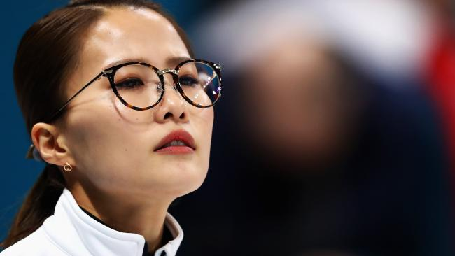The immovable face of Kim Eun-jung. (Photo by Dean Mouhtaropoulos/Getty Images)