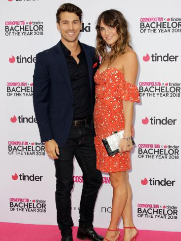 The Bachelor's Matty J and Laura Byrne all loved-up. Picture: Christian Gilles
