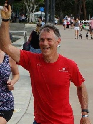 Mark Roome went missing while rowing on the Brisbane River.