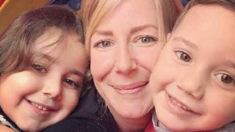 Sally Faulkner and her children Lahela and Noah. Picture: Supplied