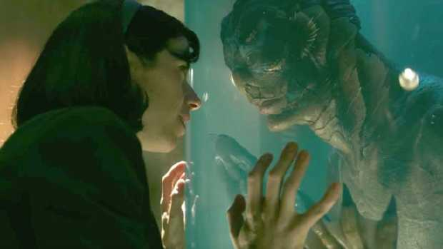 This image released by Fox Searchlight Pictures shows Sally Hawkins in The Shape of Water.