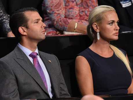 Vanessa Trump was rushed to hospital after opening an envelope containing white powder.
