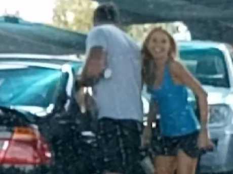 Ashley and Ryan get into a BMW. Picture: Adam Zerafa