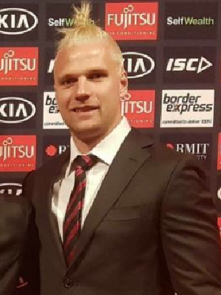 Jake Stringer's new hair. Picture: Essendon Instagram