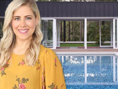 Carlene Duffy shows off the newly-finished extension to her Queensland home.