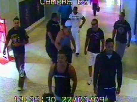 Hawi and his associates were captured on CCTV at Sydney airport during the fatal 2009 brawl. Picture: NewsCorp