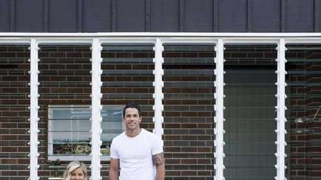Michael and Carlene unveil the new extension to their family home.