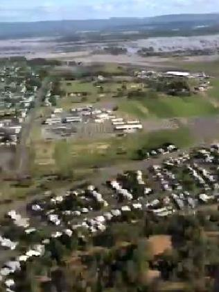 Joyce took this photo from the helicopter while touring the flood ravaged region. Picture: Twitter
