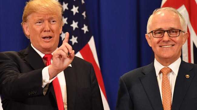 US President Donald Trump and Australian Prime Minister Malcolm Turnbull last met at the Association of South East Asian Nations (ASEAN) forum in the Philippines last November. Picture: AAP Image/Mick Tsikas