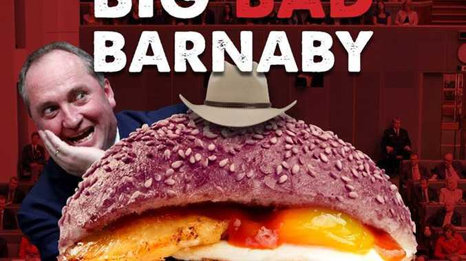 Burger Urge's Big Bad Barnaby burger.