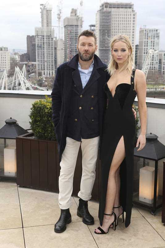 Joel Edgerton and Jennifer Lawrence during the Red Sparrow photo call at The Corinthia Hotel in London.