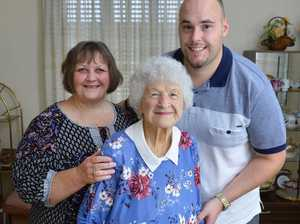 90 YEARS: Daphne Woodford of Leichhardt says a good