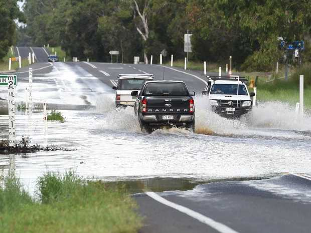 Water over Booral Rd near Main Street.