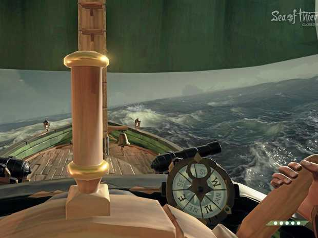 A screenshot from Microsoft's new multiplayer game Sea of Thieves.