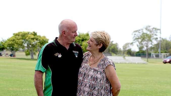 STALWARTS: John and Joy Allen have been proud volunteers of the Maclean Bobcats Football Club.
