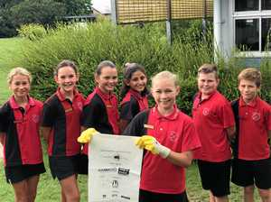 Gympie school students set clean example