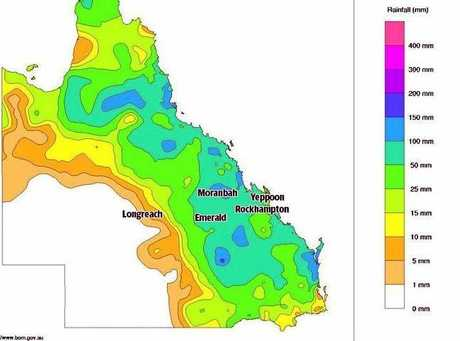 Recorded rainfall for the last week in Central Queensland.