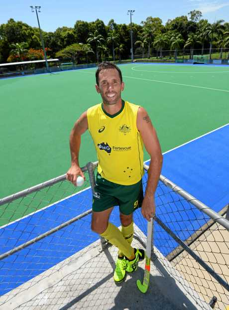 Australian hockey player Mark Knowles at Kalka Shades in Rockhampton.