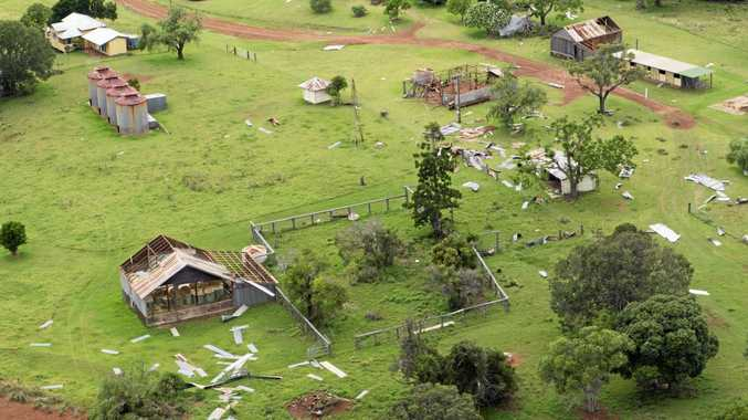 RIPPED APART: Properties in the Kumbia area received significant damage in the Boxing Day storm.