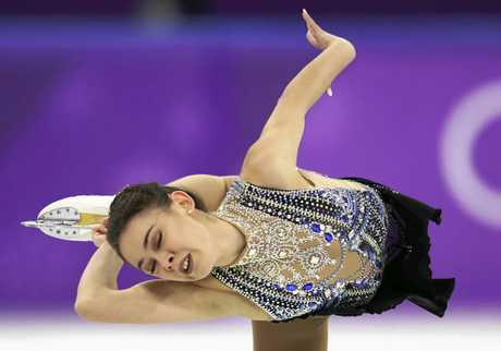 Kailani Craine performs during the women's free figure skating final.
