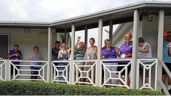 Caloundra Family History Research members take afternoon tea.