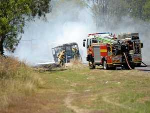 UDPATE: Bus not on fire, mechanical failure break down