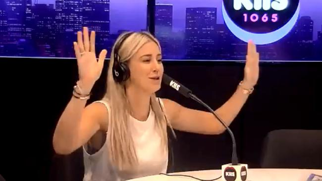 Roxy Jacenko in the KIIS FM studio today.