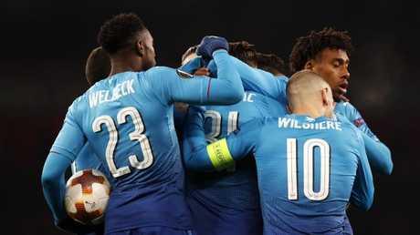 Arsenal finally score.