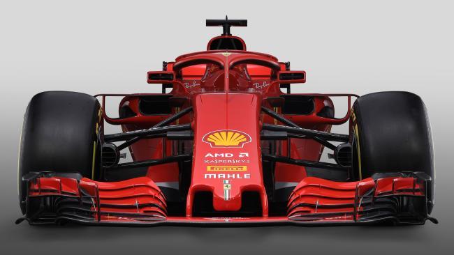 The new Ferrari Formula 1 SF71H.
