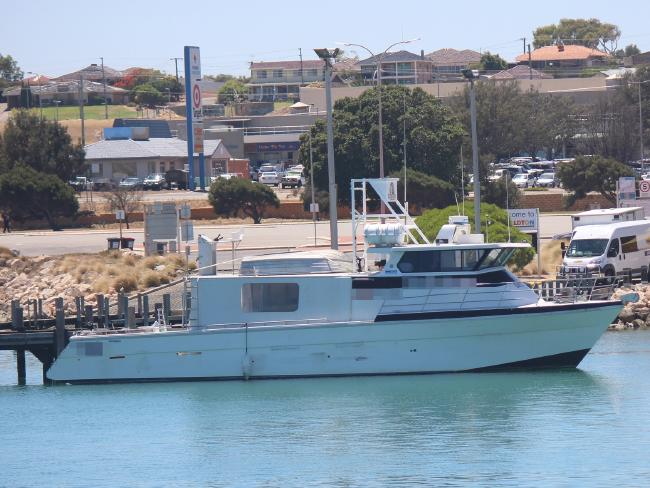 The boat from China which was seized in WA. Picture: Geraldton Guardian