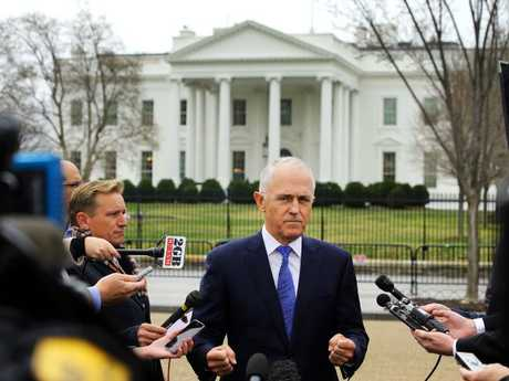 Australian Prime Minister Malcolm Turnbull in Washington, DC, ahead of his meeting with US President Donald Trump at the White House. Picture: Nathan Edwards