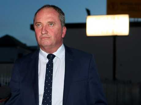 National Party Leader Barnaby Joyce leaving a Nationals Party NSW branch general meeting in Armidale on Wednesday evening. Picture: Hollie Adams/The Australian