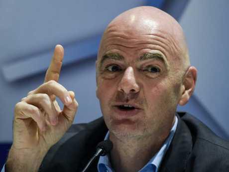 President of FIFA Gianni Infantino