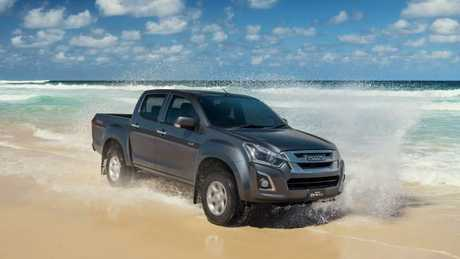 The Isuzu D-Max is a bit old school to drive, but it shares its turbo diesel engine witha truck. Picture: Supplied.