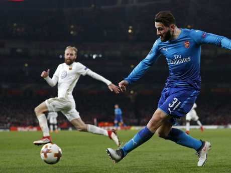 Arsenal's German-born Bosnian defender Sead Kolasinac