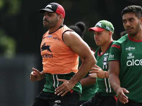 Greg Inglis will have push his case for a return at the Rabbitohs' final training session. Picture: Brett Costello