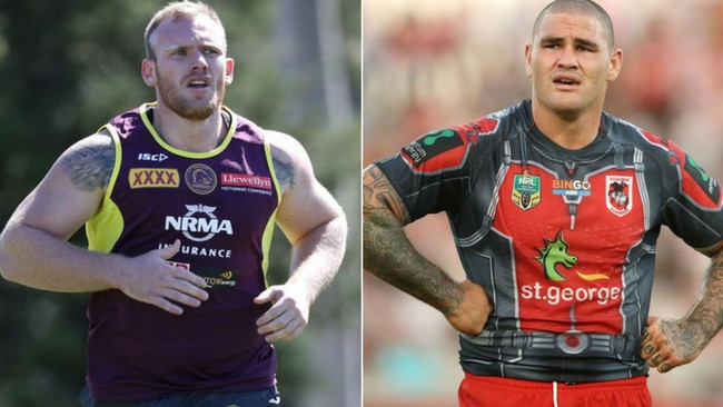 Rugby league 'bad boys' Matt Lodge and Russell Packer.